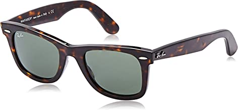 Ray-Ban RB2140 Wayfarer Sunglasses, Tortoise/Green, 50 mm