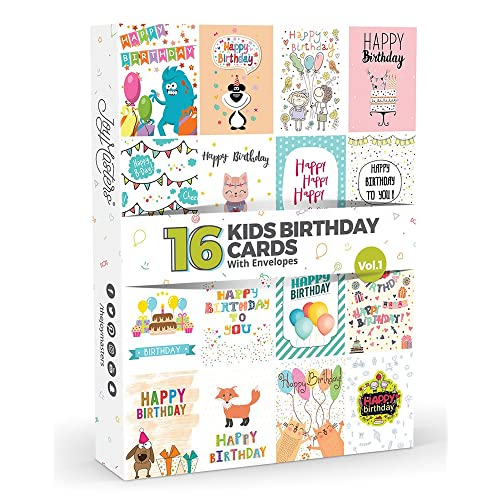 16 X KIDS Birthday Cards By Joy MastersTM Vol1