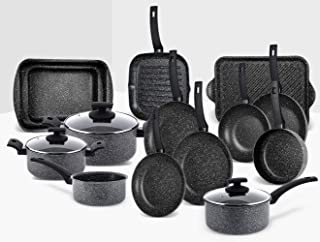 Rossetti® Elementi Natura Ultimate 17 Piece Cooking Set Experience Made in Italy No-Mess No-Fuss Carefree Cookware Set Ful...