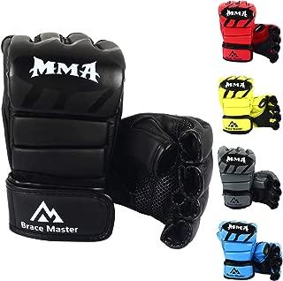 MMA Gloves UFC Gloves Boxing Gloves for Men Women Leather More Paddding Fingerless Punching Bag Gloves for Kickboxing, Sparring, Muay Thai and Heavy Bag