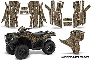 AMR Racing ATV Graphic Kit Sticker Decals Compatible with Honda Foreman All Years - Woodland Camo