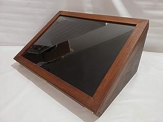 Teca vetrina display per collezionismo espositore in legno