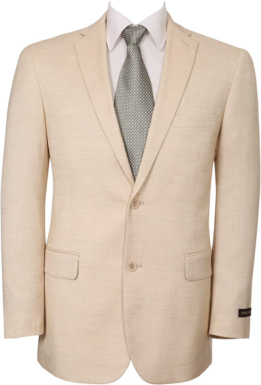 Men's Classical Fit Blazer Two Buttons and Notched Lapel Stretch Suit Jacket