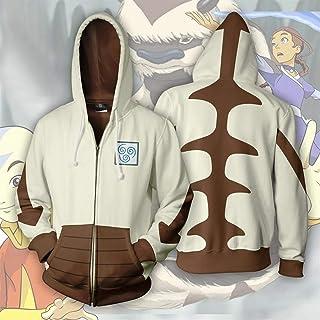 Cospaly Fashion Last Airbender APPA - Sudadera con capucha y cremallera para cosplay con capucha y diseño de anime Avatar,...