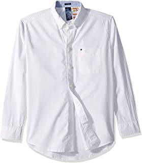 Tommy Hilfiger Men's Adaptive Magnetic Button Down Long Sleeve Shirt Classic Fit