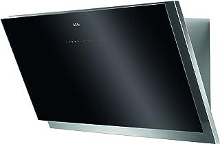 AEG DVB5960HG 抽油烟机 带通风功能和可发光玻璃控制面板,无顶抽油烟机90厘米,带活性炭过滤器的节能油烟机,A级(57.3 千瓦时/年),黑色