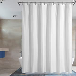 Barossa Design Waterproof Fabric Shower Curtain or Liner Hotel Quality, Machine Washable, White Shower Curtain Liner for B...