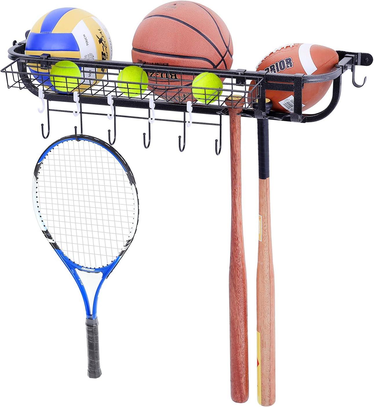 New Genuine color Mythinglogic Garage Sports Equipment Organizer Mounted Ball Wall