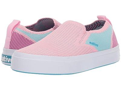 Native Kids Shoes Miles 2.0 Liteknit (Little Kid) (Lantern Pink/Hydrangea Blue/Origami Purple) Girl