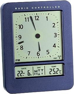 TFA Dostmann 60.2530 Réveil radio-piloté avec affichage de la température (bleu)