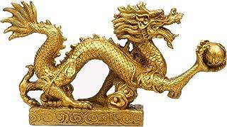 Yaoyijun Feng Shui Dragon Luck & Success feng Shui Goods Brass Dragon Statue Sculpture