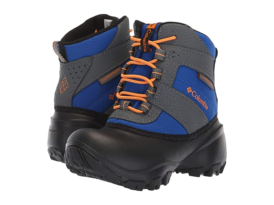 Columbia Kids Rope Towtm III Waterproof Boot (Toddler/Little Kid/Big Kid) (Azul/Orange Blast) Boys Shoes