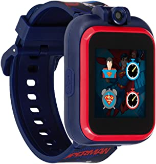 Superman Smartwatch for Kids by iTouch PlayZoom - Swivel Camera with Video Record, Educational Games and Activities, Alarm, Calendar, Stopwatch, and Camera Remote