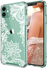 Case for iPhone 11,Cutebe Shockproof Series Hard PC+ TPU Bumper Protective Case for Apple iPhone 11 6.1 Inch Crystal Lace Design(White)