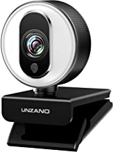 HD Webcam 1080P for Streaming With Ring Light,  External Computer Web Camera With Dual Microphone,  Autofocus Camera for PC Laptop Desktop Mac Video Calling Recording Skype Xbox One YouTube OBS