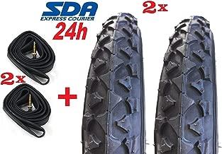 2 Neumáticos Negro para Bici Bicicleta 14 X 1.75 + 2 Cá