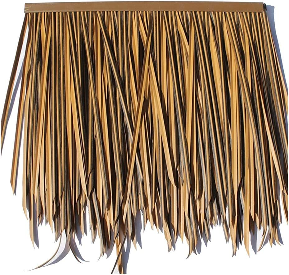 Palm Leaf 信託 Simulation thatch Tile Artificial Grass Flame 《週末限定タイムセール》 PE Hair