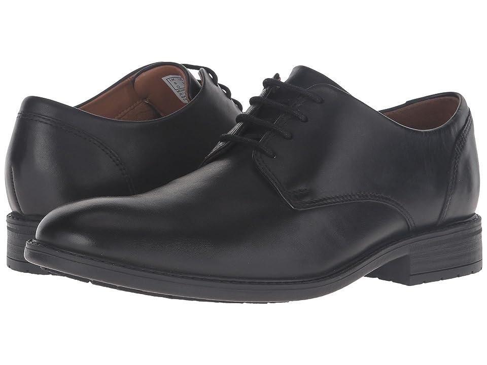 Clarks Truxton Plain (Black Leather) Men