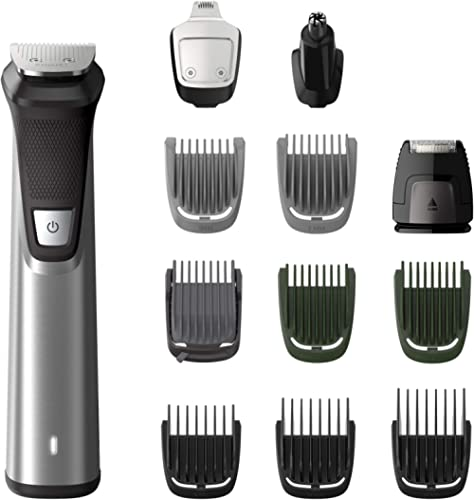 Philips Multigroom Series 7000 12-in-1 Face, Hair and Body Showerproof Premium Trimmer/Clipper/Styler, Up to 120 Min ...