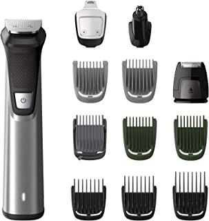 Philips Multigroom Series 7000 12-in-1 Face, Hair and Body Showerproof Premium Trimmer/Clipper/Styler, Up to 120 Min Run T...