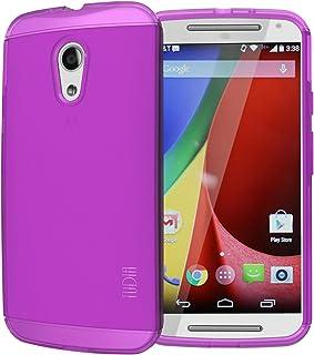 Tudia Lite TPU Bumper Protective Case for Motorola Moto G 2nd Gen 2014 – Purple