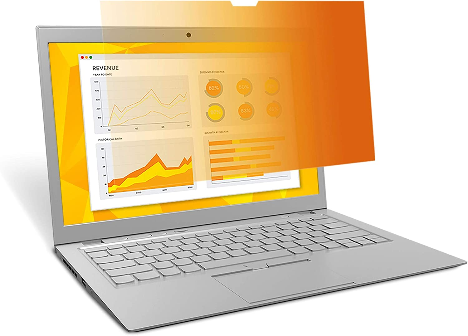 3M GF156W9B Frameless Gold Notebook Privacy Filter for 15.6-Inch Widescreen Monitor, 16:9