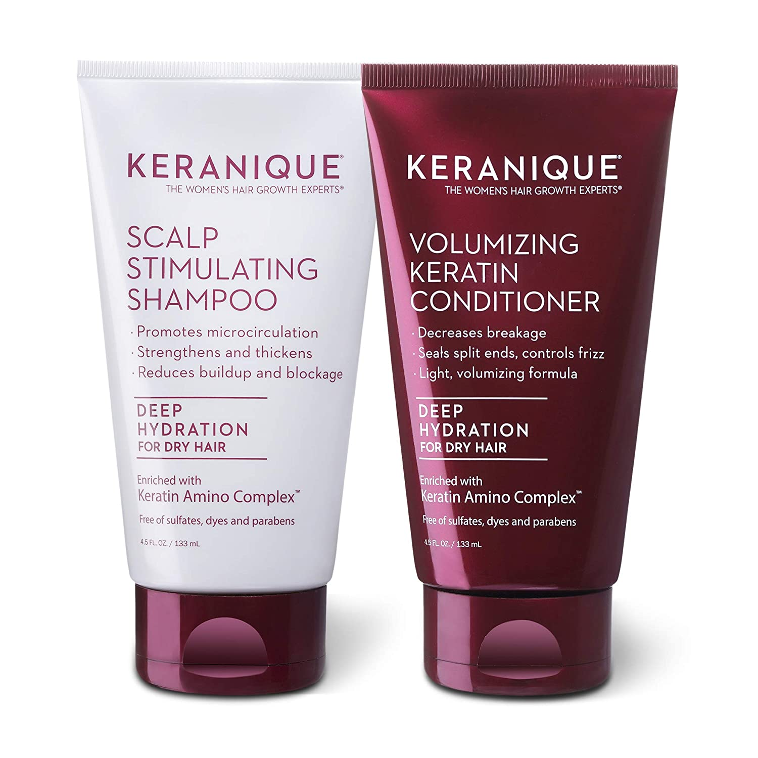 Keranique Keratin Shampoo and Conditioner for H Dry Set Thinning Outlet sale feature OFFicial