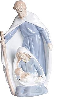 YLINSHA 11inch Holy Family Statue Catholic,Catholic Gifts,Nativity Scene, Nativity Set Ceramic Statue for Parents and Elde...