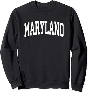 Maryland Crewneck Sweatshirt Sports College Style State Gift