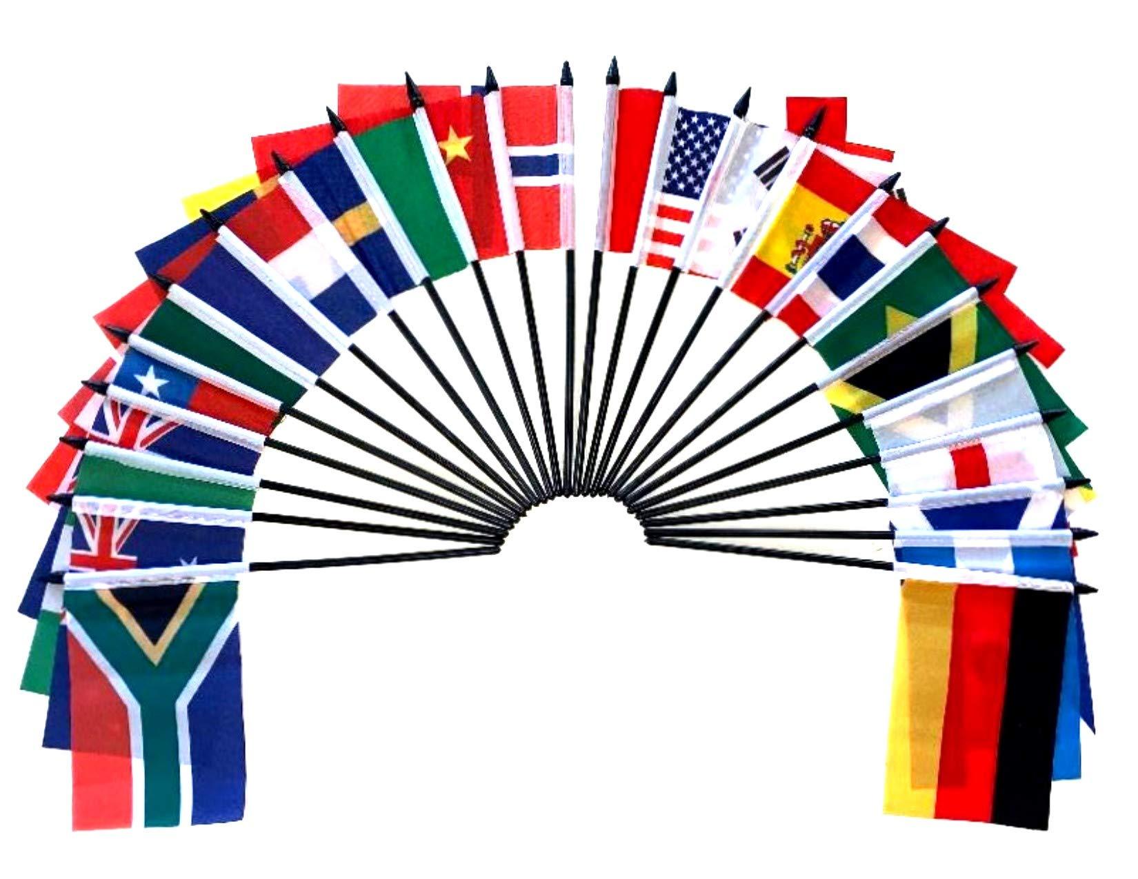 World Cup 2018 Fútbol banderas 2018- Juego de 32 poliéster 4