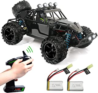 Exercise N Play RC Truck RC Car, Remote Control Car, Terrain RC Cars, Electric Remote Control Off Road Monster Truck, 1:18 Scale 2.4Ghz Radio 4WD Fast 30+ MPH RC Car (1:18A)