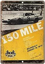 Vintage Decorative Art Wall, 1970 Late Model Stock Car Race, Wall Art Decor for Home Bar Garage Store Yard Office