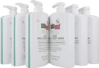 Sebamed Liquid Face and Body Wash, for Sensitive Skin 33.8-Fluid Ounces Bottle (Pack of 6)