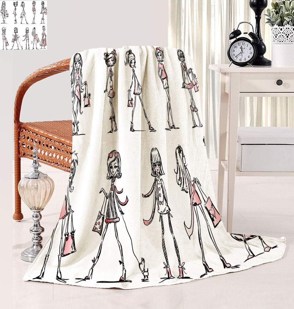Hualidecor Girls Warm Microplush Indianapolis Mall with Cartoon Blanket Hig Max 84% OFF