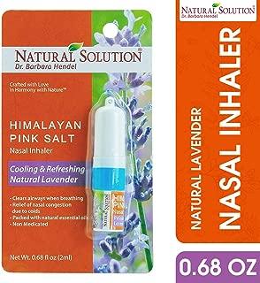 LAVENDER NETI INHALER Sinus & Lung Relief. HIMALAYAN SALT AIR! Respiratory Wellness. Clearing, Healing Ions Aromatherapy. Handy Portable
