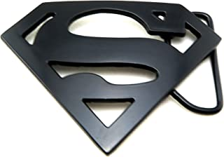 Black Superman Logo Belt Buckle