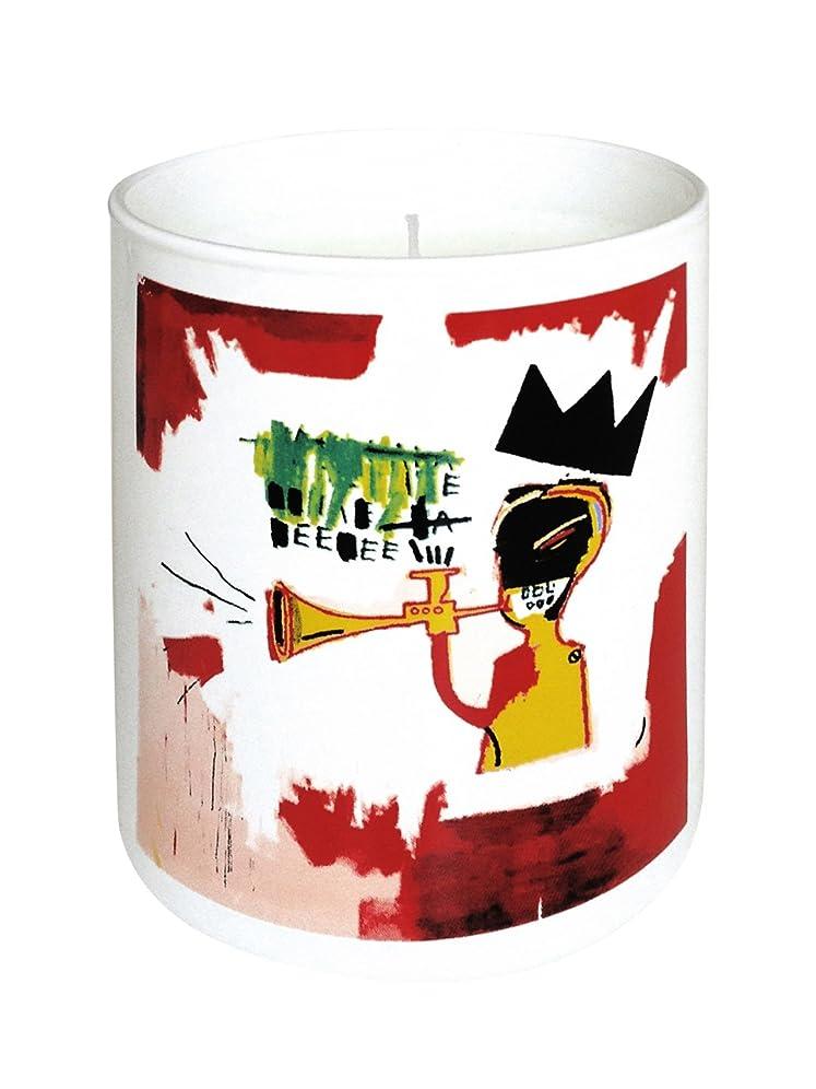 庭園ほんの属するジャン ミシェル バスキア トランペット キャンドル(Jean-Michael Basquiat Perfumed Candle