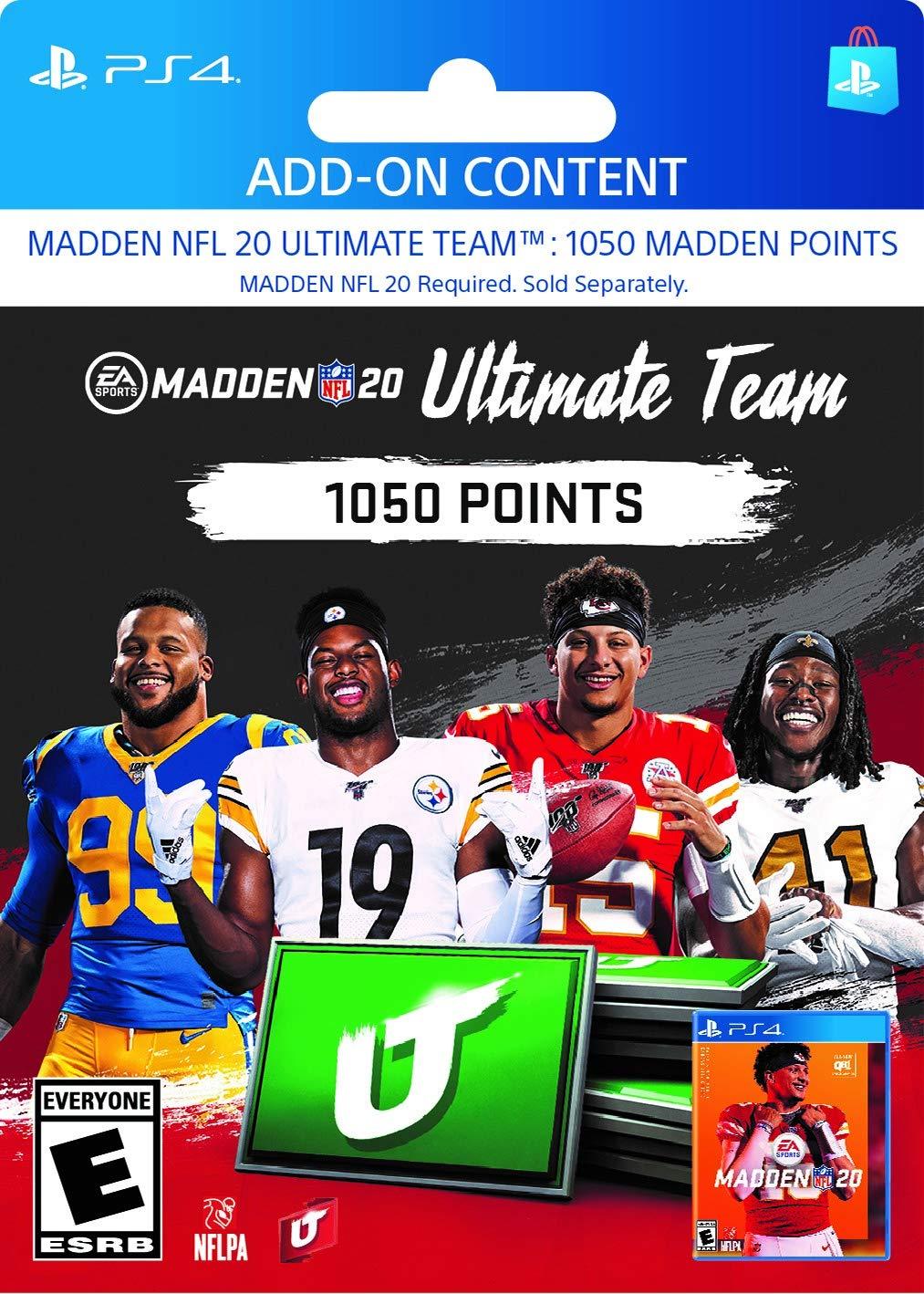Madden NFL 20: MUT 1050 Madden Points Pack - [PS4 Digital Code]