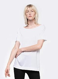 camiseta canoa manga curta pima