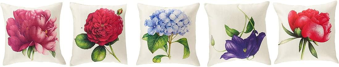 Panache Exports Printed Cushion Cover, Multi-Colour, 45 x 45 cm, PECUSCVR05, Set of 5