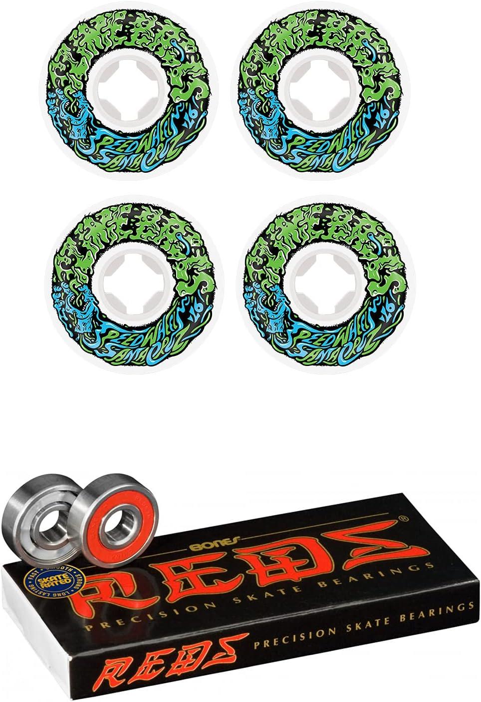 Slime Max 50% OFF Deluxe Balls Skateboard Wheels 54mm Vomit White Bo Mini 97A Green