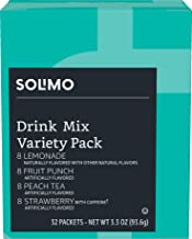 Amazon Brand - Solimo Variety Pack Drink Mix Singles (32 packets)
