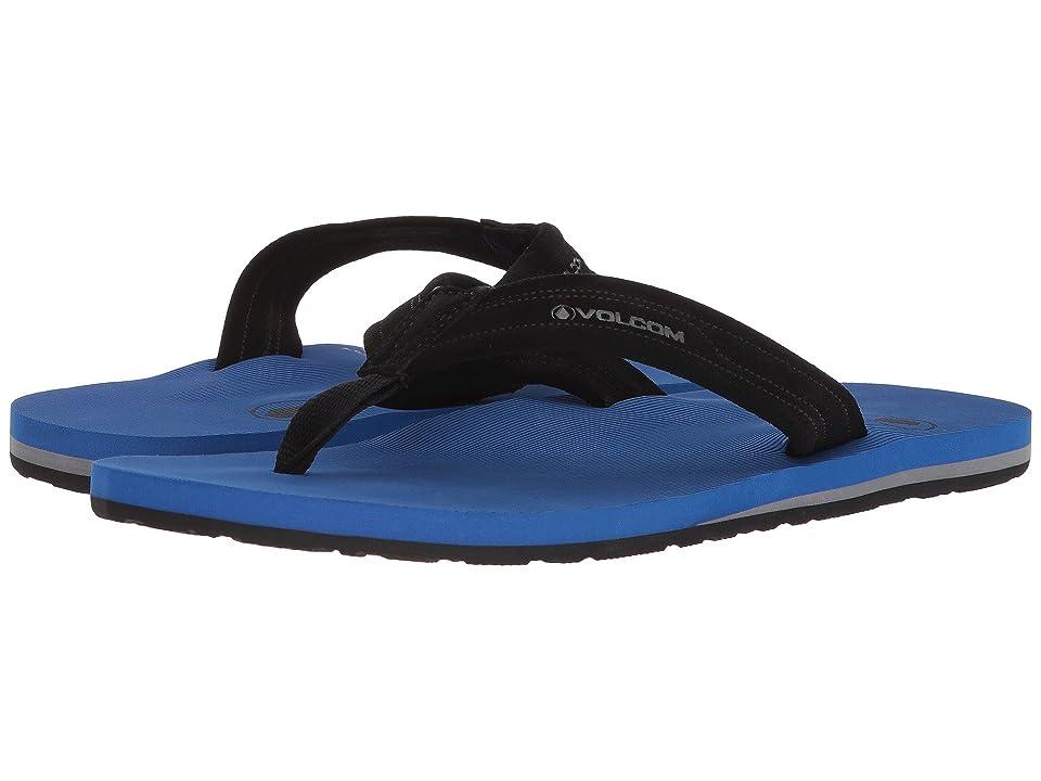 Volcom Driftin Leather Sandal (Blue) Men