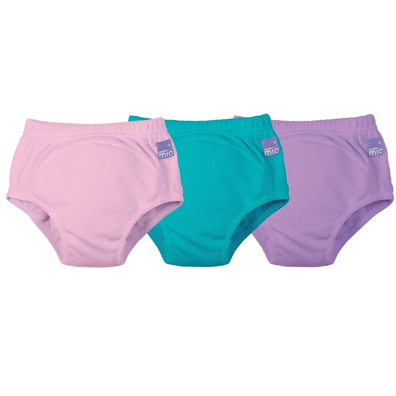 Bambino Mio 3 Piece Potty Training Pants, Mixed Girl Teal, 3+ Years