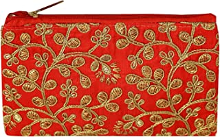 Kuber Industries Embroidery Women Hand Purse Wallet For Party, Wedding, Dating (Red)
