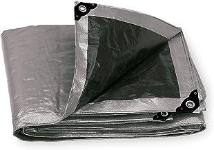 Truper LT-47, Lona reforzada color gris de 4 x 7 m, 180 g/m