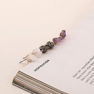 925 Sterling Silver Post Druzy Tragus Ball Stud Earrings Set, Hypoallergenic Cute Dainty Chakra Gemstone Resin Earring Jew...