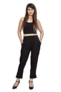 Rapsodia Women Pants and Trousers/Pant for Women Casual slub Cotton for Daily use