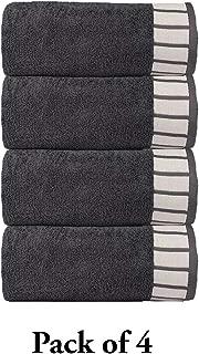 TRIDENT His & Her Premium 550 GSM 4 Pack Cotton Bath Towel Set - Grey