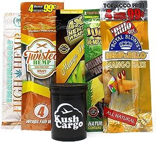 Mango Hemp Wraps Variety Pack King Pin, Juicy, Hemparillo (10 Packs, 2 Each)